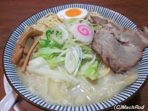 栃木屋バカ麺 塩ワンタン麺中バカ盛り
